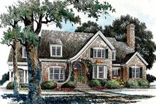 House Plan Design - Country Exterior - Front Elevation Plan #429-338