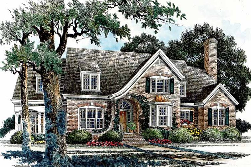 Country Exterior - Front Elevation Plan #429-338 - Houseplans.com