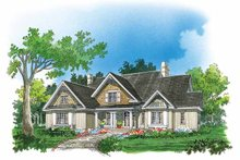 Country Exterior - Front Elevation Plan #929-414
