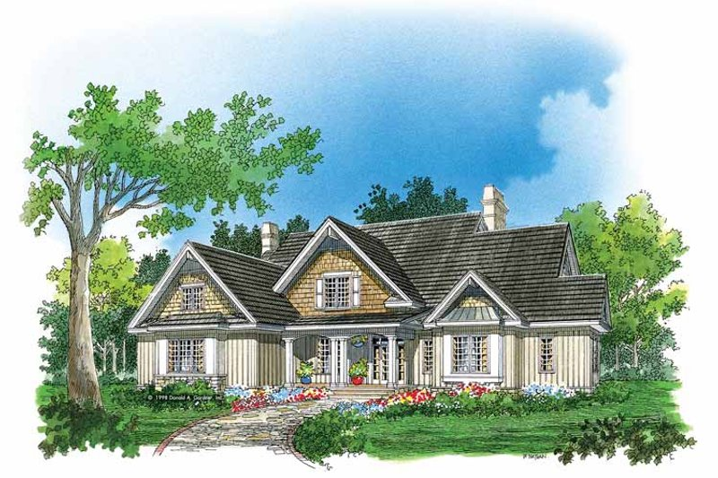 Home Plan - Country Exterior - Front Elevation Plan #929-414