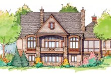 European Exterior - Rear Elevation Plan #929-901