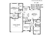 European Style House Plan - 3 Beds 2 Baths 2158 Sq/Ft Plan #424-410 Floor Plan - Main Floor