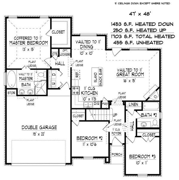 European Floor Plan - Main Floor Plan #424-410