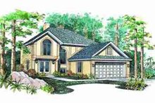 House Blueprint - Traditional Exterior - Front Elevation Plan #72-329