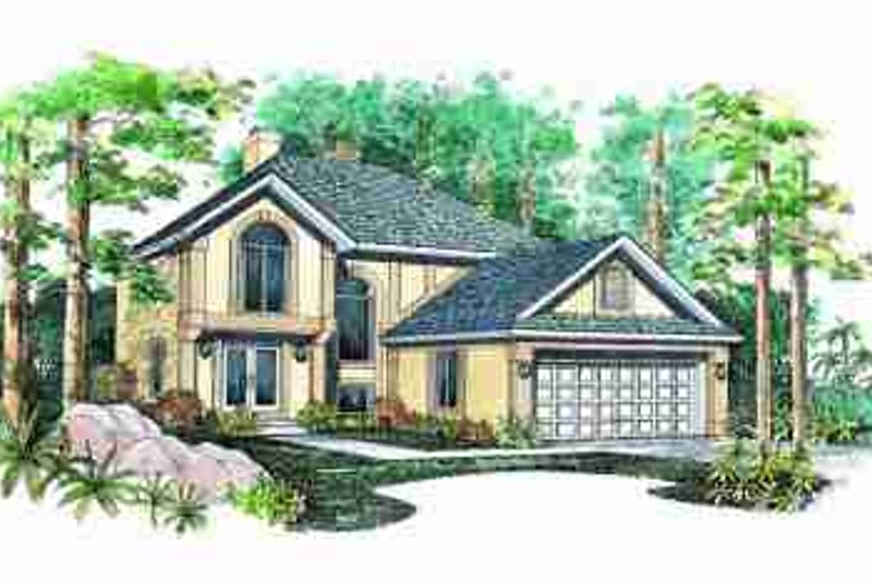 Traditional Exterior - Front Elevation Plan #72-329