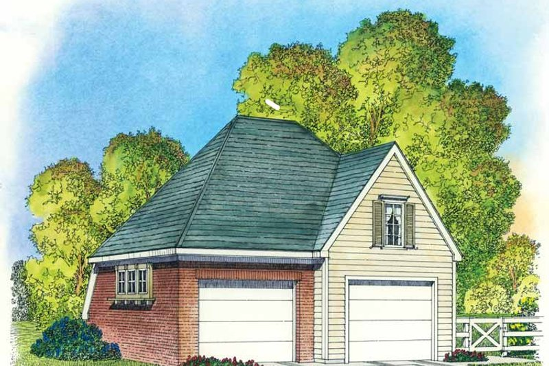 Colonial Exterior - Front Elevation Plan #1016-83 - Houseplans.com