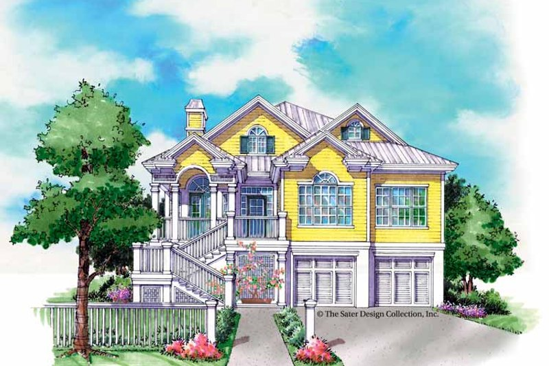 Country Exterior - Front Elevation Plan #930-159