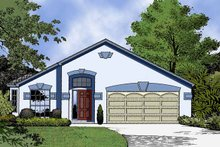 Country Exterior - Front Elevation Plan #1015-37