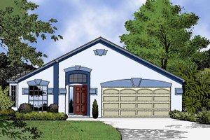 Architectural House Design - Country Exterior - Front Elevation Plan #1015-37