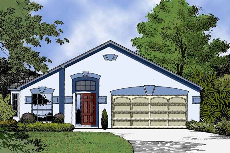 Country Exterior - Front Elevation Plan #1015-37 - Houseplans.com