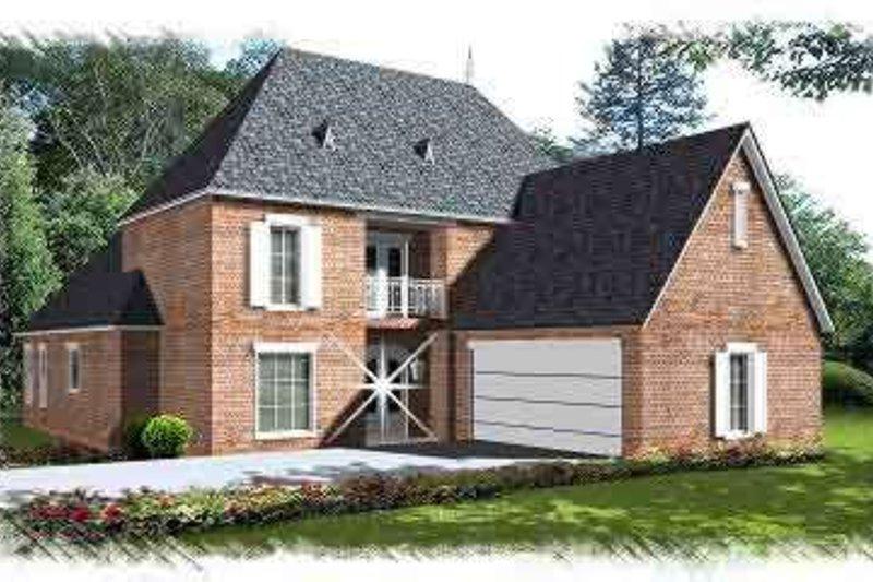 European Exterior - Front Elevation Plan #15-273 - Houseplans.com