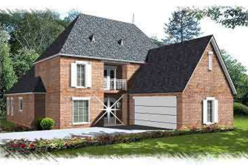 Home Plan - European Exterior - Front Elevation Plan #15-273