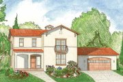 Mediterranean Style House Plan - 3 Beds 2.5 Baths 2144 Sq/Ft Plan #1042-2 Exterior - Front Elevation