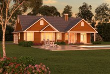 House Design - Ranch Exterior - Rear Elevation Plan #18-1057