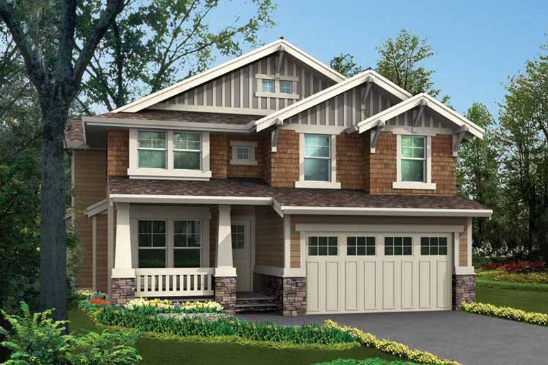 Dream House Plan - Craftsman Exterior - Front Elevation Plan #132-326