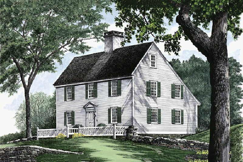 Colonial Exterior - Front Elevation Plan #137-207