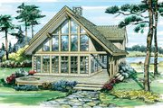 Cabin Style House Plan - 3 Beds 2.5 Baths 1795 Sq/Ft Plan #47-927 Exterior - Front Elevation