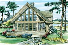 Architectural House Design - Cabin Exterior - Front Elevation Plan #47-927