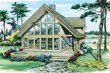 House Design - Cabin Exterior - Front Elevation Plan #47-927