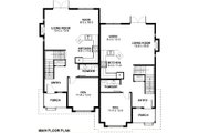 Victorian Style House Plan - 3 Beds 2.5 Baths 4911 Sq/Ft Plan #126-168 Floor Plan - Main Floor Plan