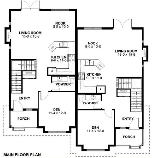 Victorian Floor Plan - Main Floor Plan Plan #126-168