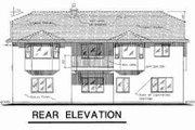 European Style House Plan - 4 Beds 3 Baths 1728 Sq/Ft Plan #18-9303 Exterior - Rear Elevation