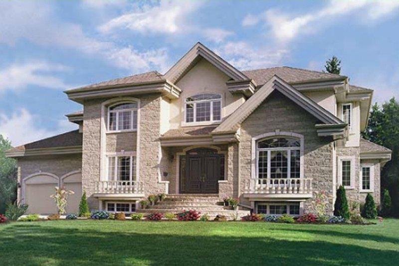 Architectural House Design - European Exterior - Front Elevation Plan #23-2015