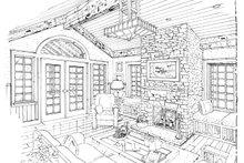 Craftsman Interior - Family Room Plan #942-12