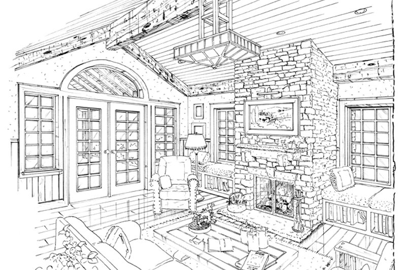 Craftsman Interior - Family Room Plan #942-12 - Houseplans.com