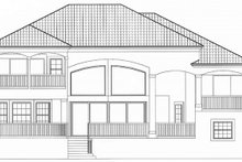 Architectural House Design - Mediterranean Exterior - Rear Elevation Plan #1017-151
