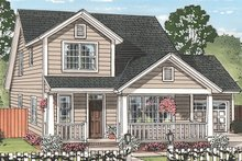 Country Exterior - Front Elevation Plan #513-2164
