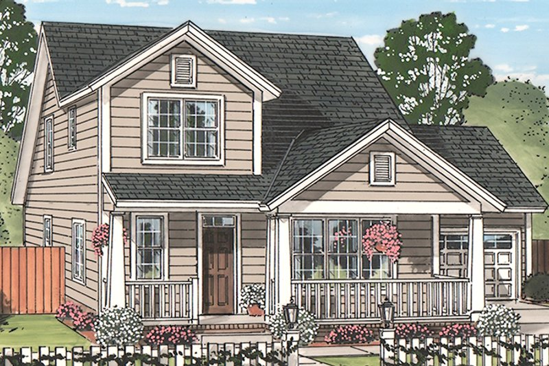 Country Exterior - Front Elevation Plan #513-2164 - Houseplans.com