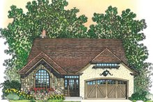 House Plan Design - European Exterior - Front Elevation Plan #1016-106