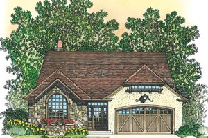 Dream House Plan - European Exterior - Front Elevation Plan #1016-106