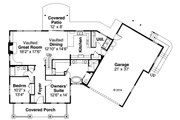 Craftsman Style House Plan - 4 Beds 3 Baths 2840 Sq/Ft Plan #124-979 Floor Plan - Main Floor