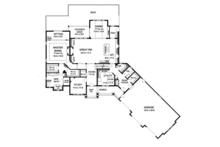 Colonial Floor Plan - Main Floor Plan Plan #1010-40