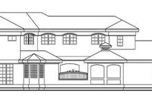 Dream House Plan - Mediterranean Exterior - Rear Elevation Plan #124-234