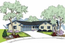 Home Plan - Country Exterior - Front Elevation Plan #60-1025