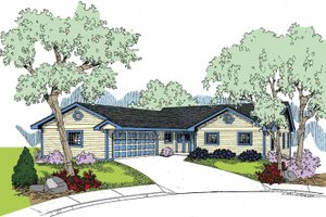 House Design - Country Exterior - Front Elevation Plan #60-1025