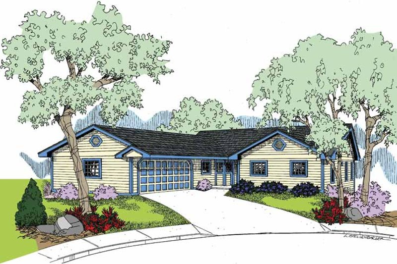 Country Exterior - Front Elevation Plan #60-1025