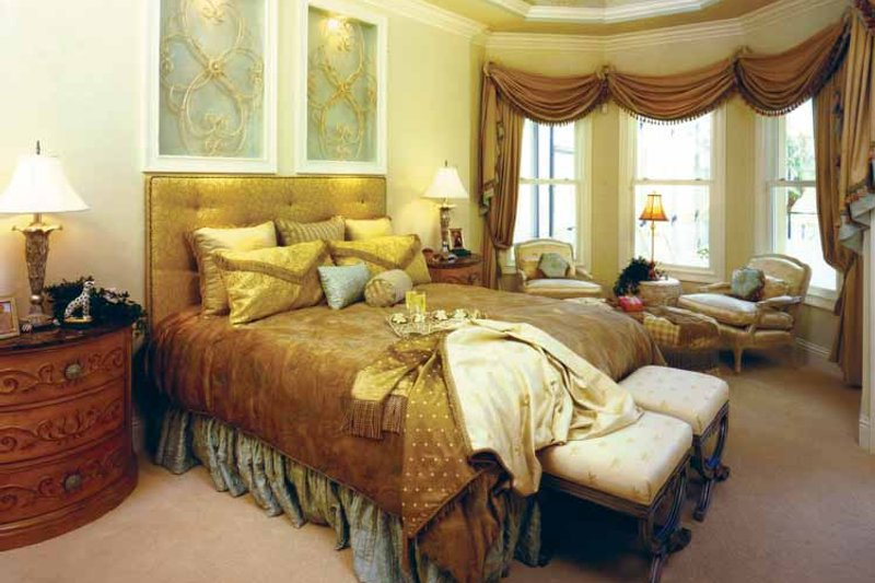 Mediterranean Interior - Master Bedroom Plan #1017-3 - Houseplans.com