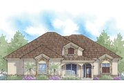 Mediterranean Style House Plan - 3 Beds 3 Baths 2529 Sq/Ft Plan #938-76 Exterior - Front Elevation