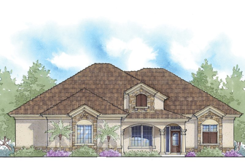 Mediterranean Exterior - Front Elevation Plan #938-76