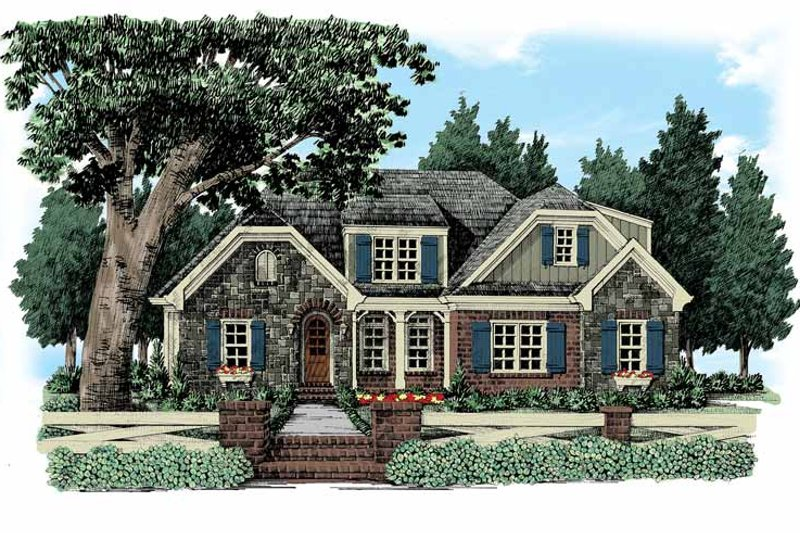 European Exterior - Front Elevation Plan #927-360