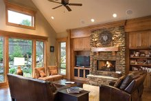 Dream House Plan - Great Room - 2900 square foot Craftsman Home