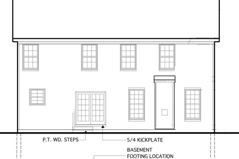 Colonial Exterior - Rear Elevation Plan #1053-54 - Houseplans.com