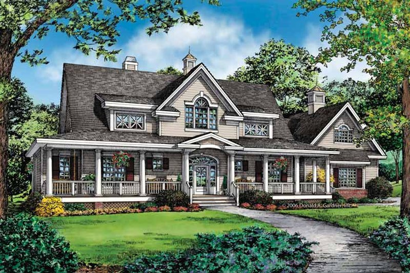 Country Exterior - Front Elevation Plan #929-857