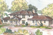 Dream House Plan - Mediterranean Exterior - Front Elevation Plan #124-711