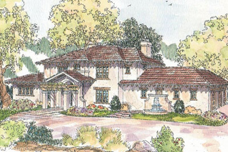 Mediterranean Exterior - Front Elevation Plan #124-711 - Houseplans.com