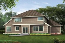 Craftsman Exterior - Rear Elevation Plan #132-256